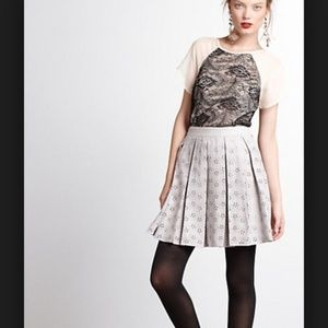 Anthro Vessel Timo night flowerl pleated skirts 4